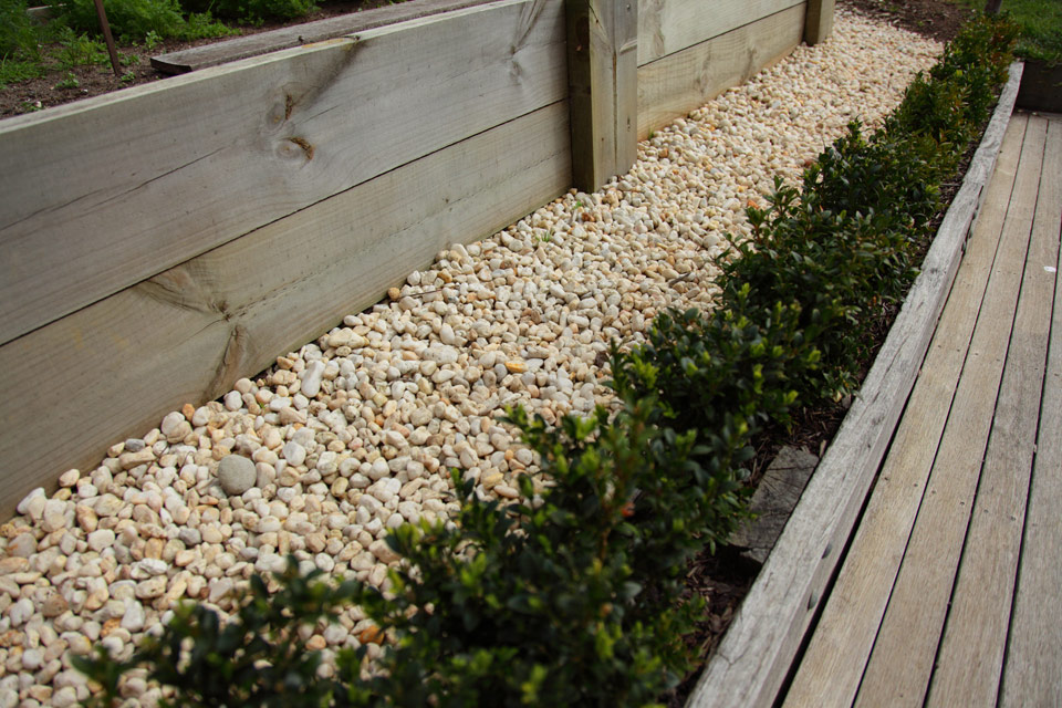 pics for white pebbles garden
